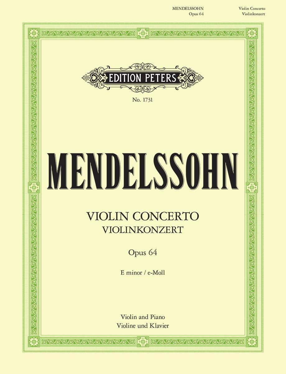 MENDELSSOHN - Violin Concerto op. 64 mi miner Oistrach - Partition - di-arezzo.co.uk