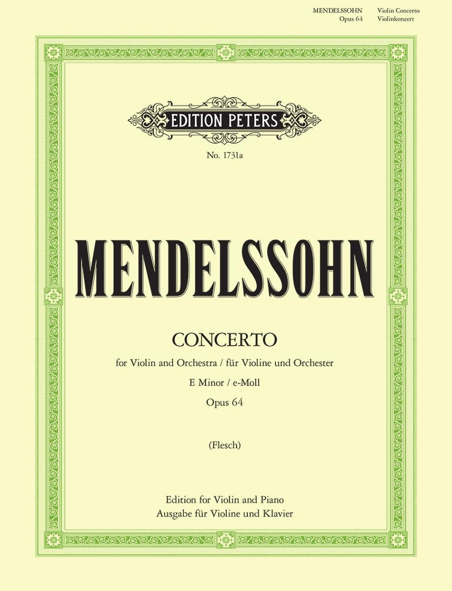 MENDELSSOHN - Violin Concerto in E minor op. 64 - Partition - di-arezzo.com