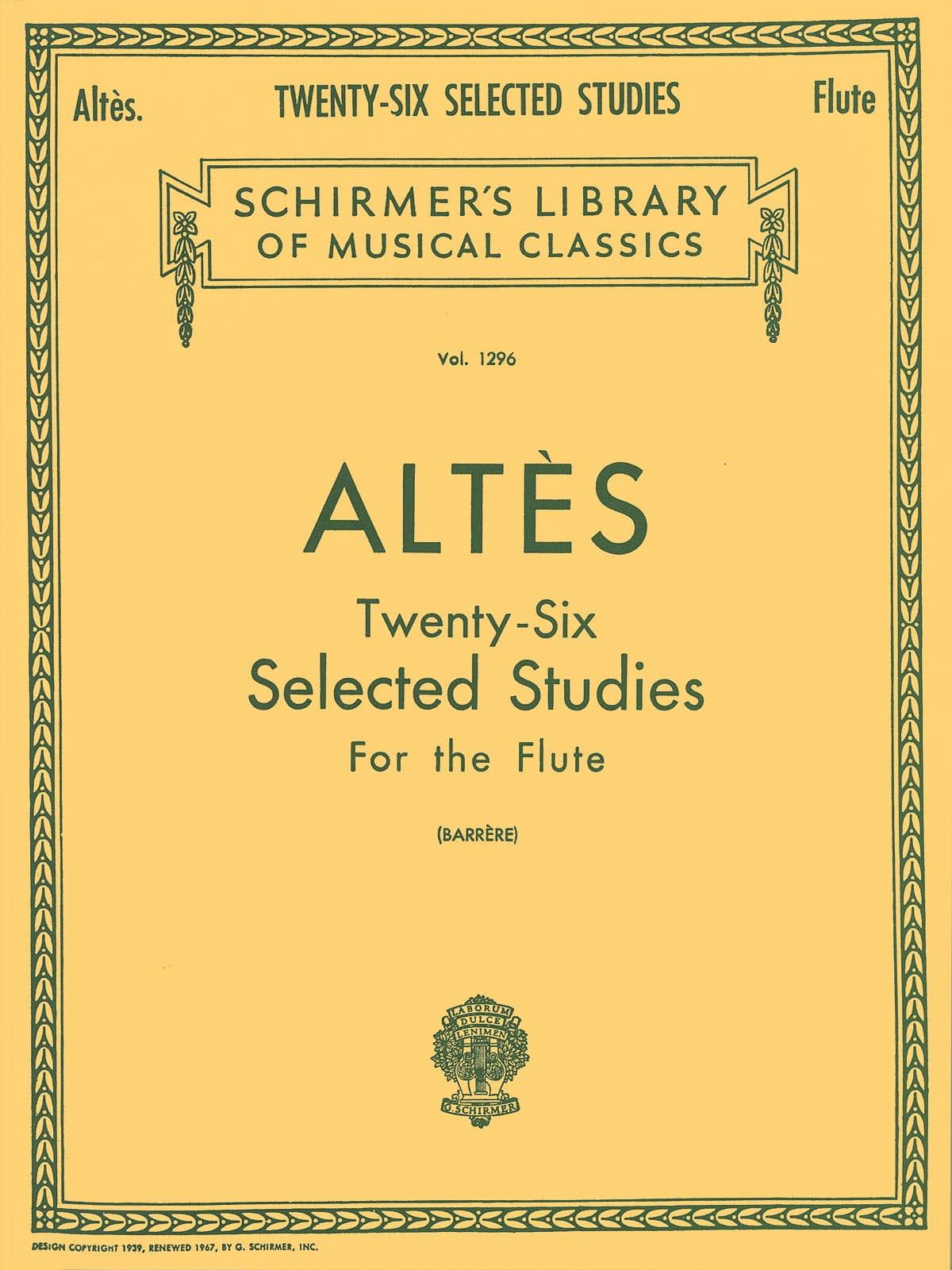 26 Selected Studies - Flute - Henry Altès - laflutedepan.com