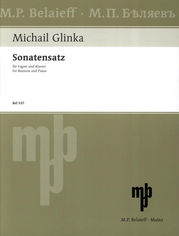 Sonatensatz en SOL mineur - GLINKA - Partition - laflutedepan.com