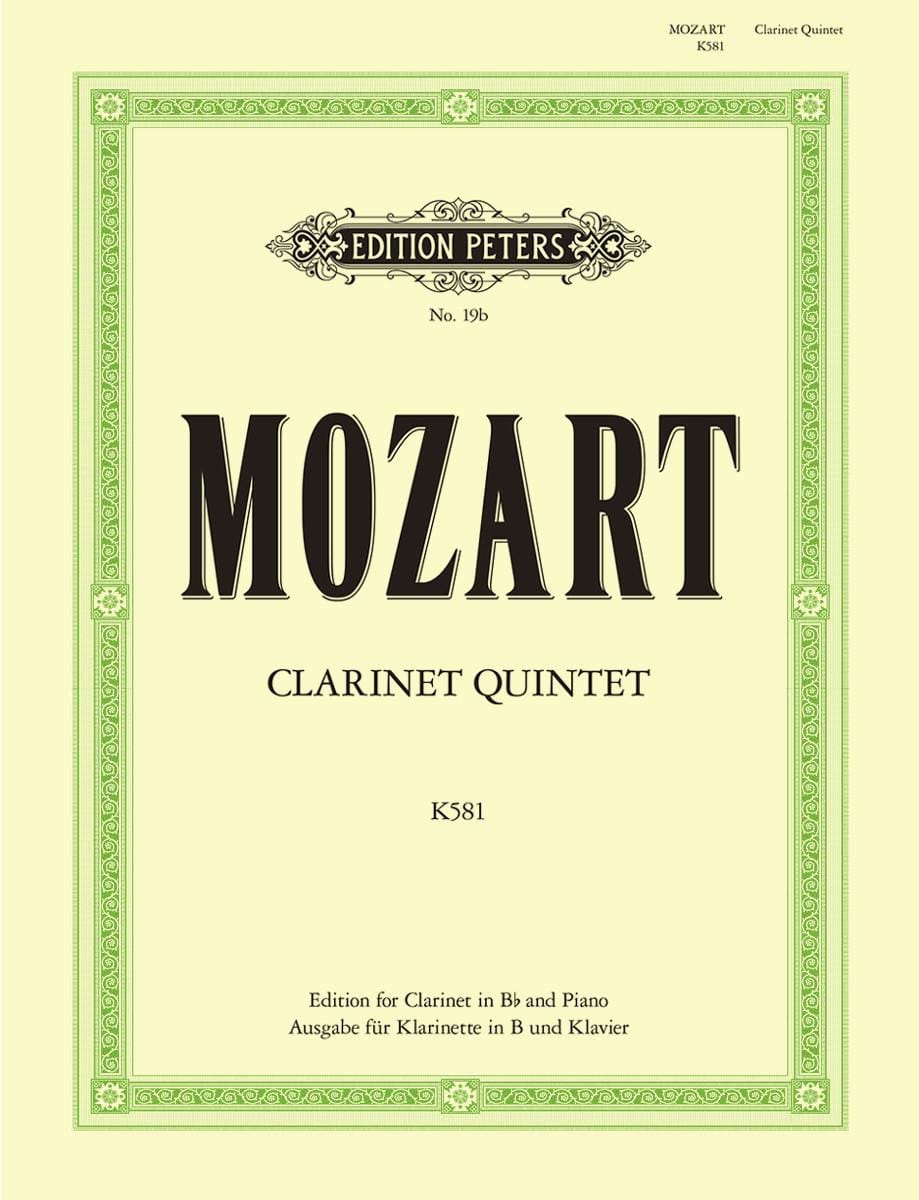 MOZART - Clarinet Quintet KV 581 - Clarinet in Bb piano - Partition - di-arezzo.co.uk