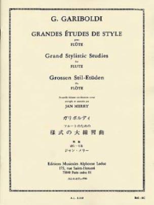 Grandes études de style op. 134 - GARIBOLDI - laflutedepan.com