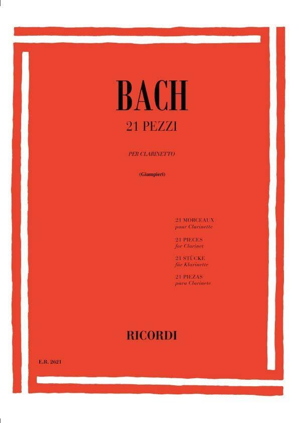 BACH - 21 Pezzi - Clarinetto - Partition - di-arezzo.co.uk