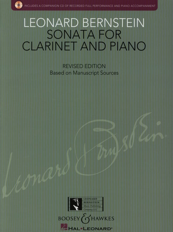 Leonard Bernstein - Sonata for Clarinet and Piano - Partition - di-arezzo.co.uk