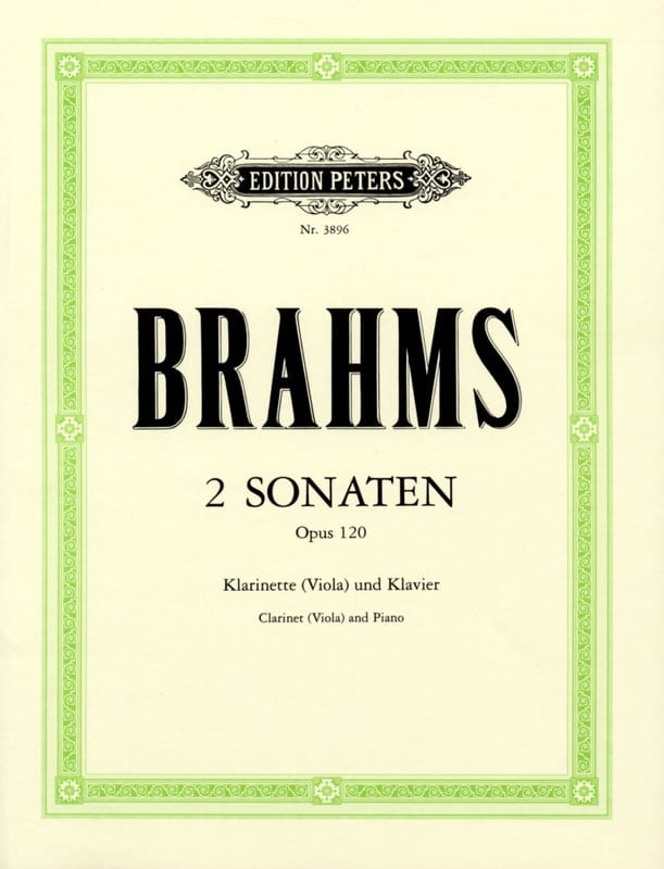 BRAHMS - 2 Sonatas op. 120 - clarinet, or viola, and piano. - Partition - di-arezzo.com