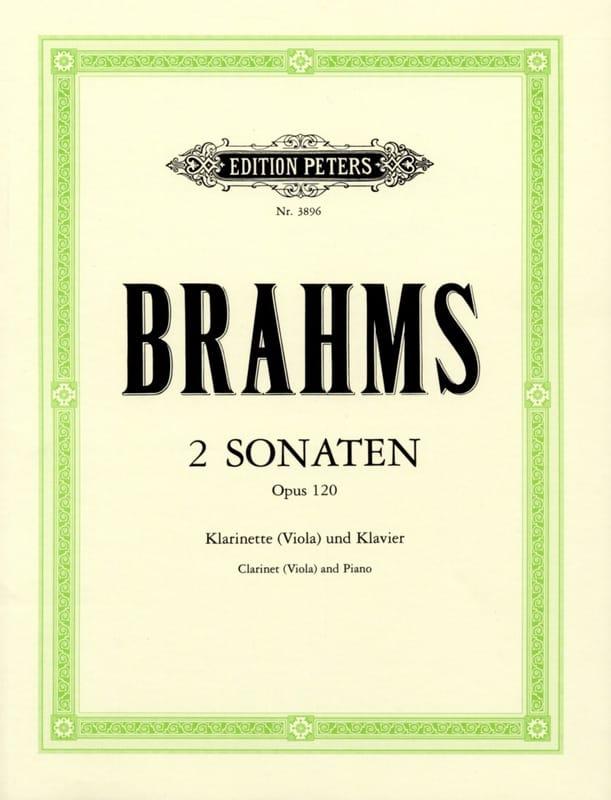 BRAHMS - 2 Sonatas op. 120 - clarinete, o viola, y piano. - Partition - di-arezzo.es