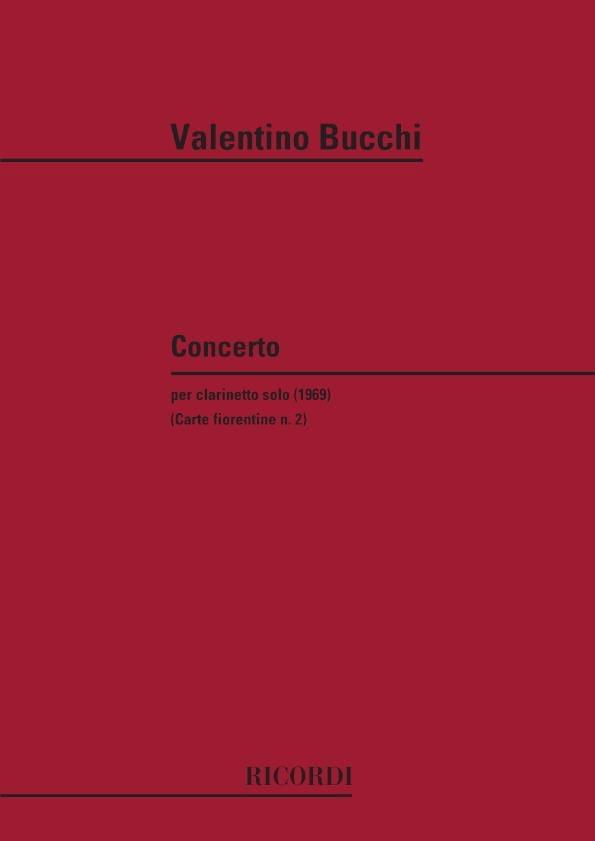 Concerto - Clarinette Solo - Valentino Bucchi - laflutedepan.com