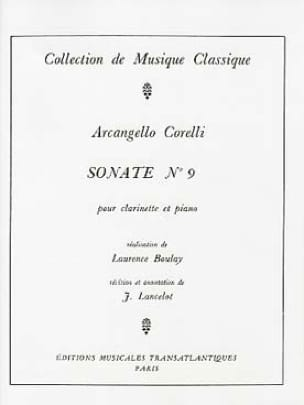 CORELLI - Sonata for Clarinet n ° 9 - Partition - di-arezzo.co.uk