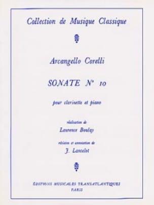 Sonate pour Clarinette n° 10 - CORELLI - Partition - laflutedepan.com