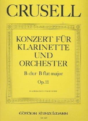 Bernhard Henrik Crusell - Konzert B-Dur op.11 - Klarinette Klavier - Partition - di-arezzo.es