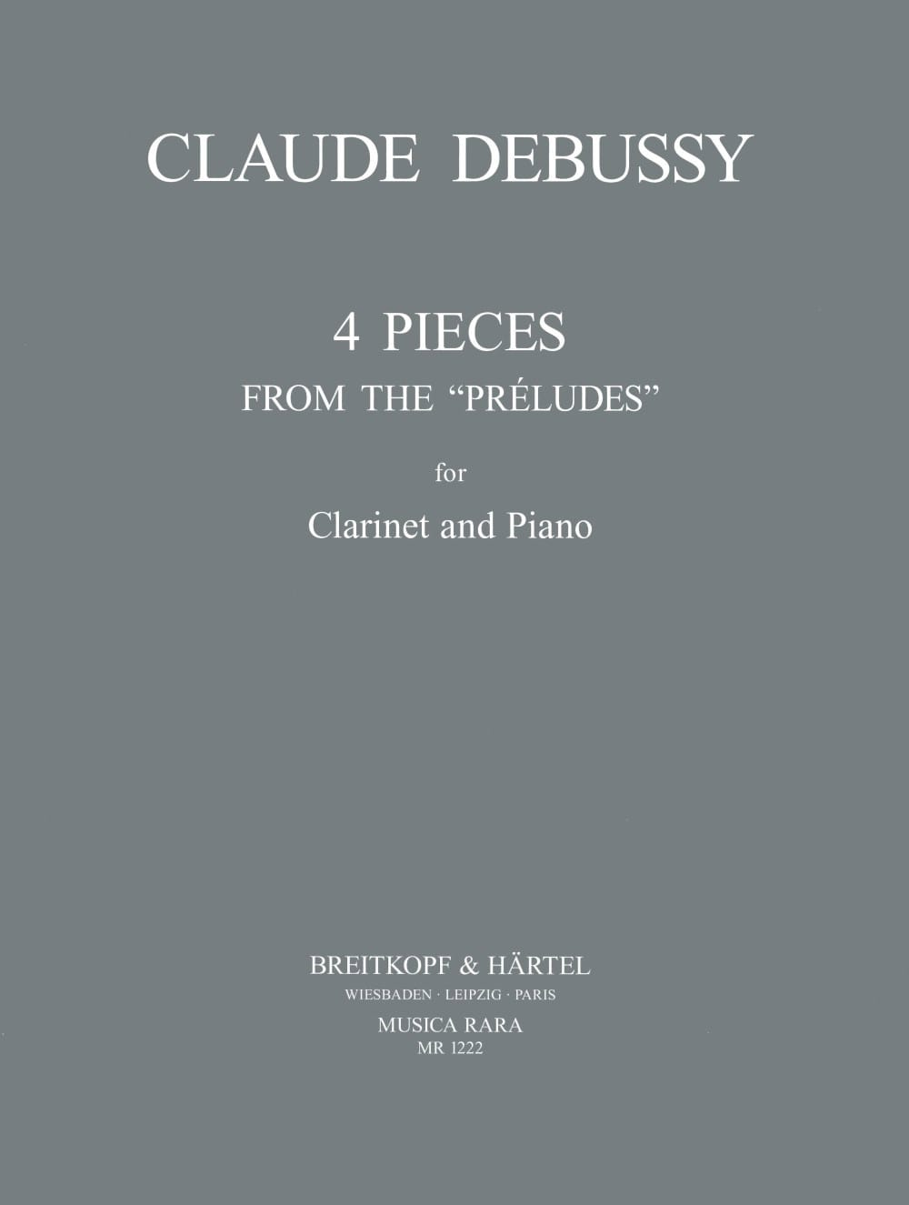 DEBUSSY - 4 Pieces - Clarinet - Partition - di-arezzo.co.uk