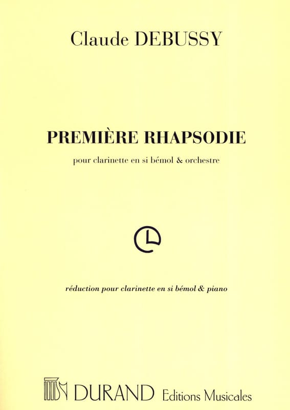 DEBUSSY - First Rhapsody for clarinet - Partition - di-arezzo.co.uk