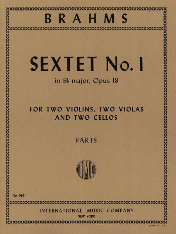 BRAHMS - Sextet n ° 1 in Bb major op. 18 - Parts - Partition - di-arezzo.com