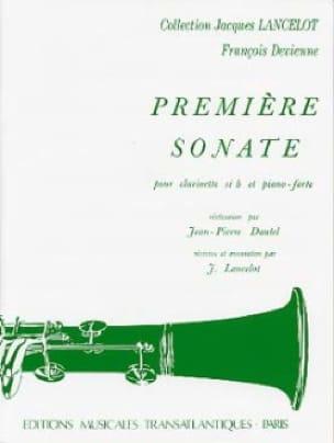 François Devienne - 1st Sonata - Clarinet and Piano - Partition - di-arezzo.co.uk