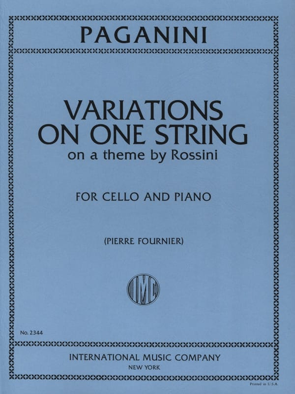 Variations on One String on a Theme by Rossini - laflutedepan.com