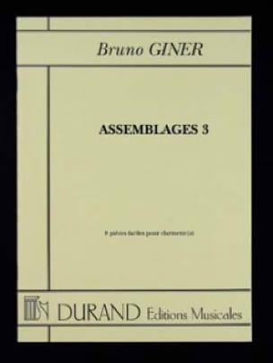 Assemblages 3 - Bruno Giner - Partition - laflutedepan.com