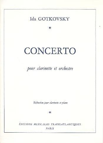Ida Gotkovsky - Clarinet Concerto - Partition - di-arezzo.co.uk