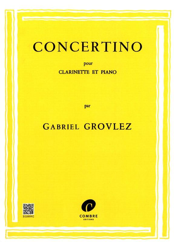 Gabriel Grovlez - Concertino - Clarinet - Partition - di-arezzo.co.uk