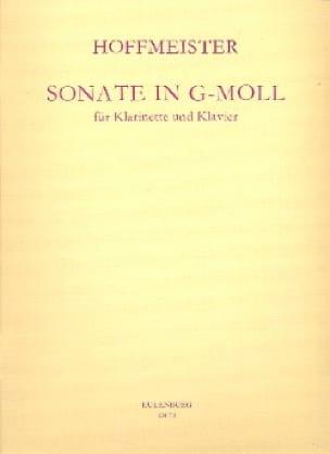 Franz Anton Hoffmeister - Sonata g-moll - Klarinette Klavier - Partition - di-arezzo.co.uk