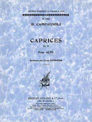 Bartolomeo Campagnoli - Caprices op. 22 - Alto - Partition - di-arezzo.co.uk