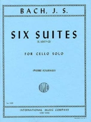 BACH - 6 suites para cello solo fournier - Partition - di-arezzo.es