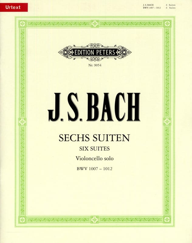 BACH - 6 Suites for Cello Alone BWV 1007-1012 - Urtext - Partition - di-arezzo.co.uk
