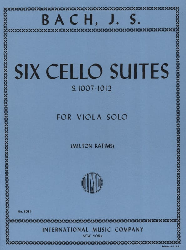 BACH - 6 Cello Suites Transcribed for Alto BWV 1007-1012 Katims - Partition - di-arezzo.com