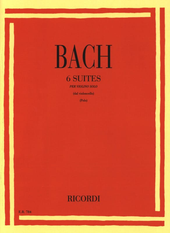BACH - 6 Transcribed Suites for Violin Only - Partition - di-arezzo.co.uk