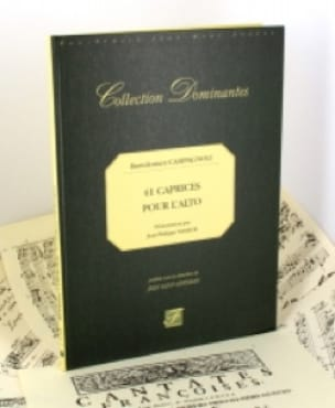 Bartolomeo Campagnoli - 41 Caprices for the Alto - Fac Simile - Partition - di-arezzo.co.uk