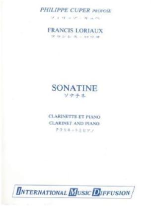 Sonatine - Francis Loriaux - Partition - Clarinette - laflutedepan.com