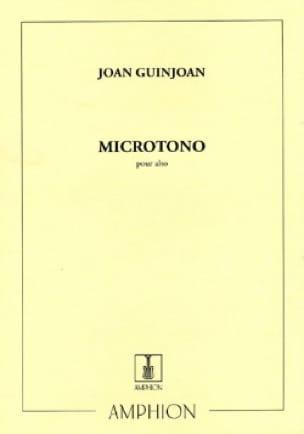 Microtono - Alto - Joan Guinjoan - Partition - Alto - laflutedepan.com