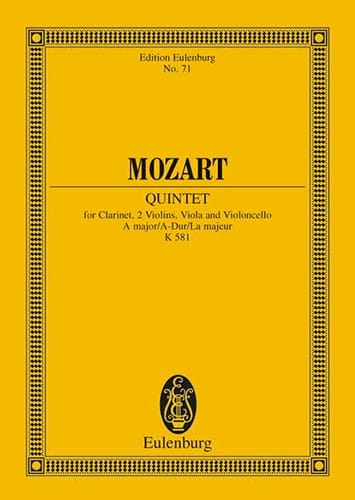 MOZART - Quintett A-Dur Kv 581 the M. - Partition - di-arezzo.co.uk
