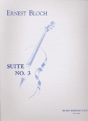 Suite n° 3 - Cello solo - BLOCH - Partition - laflutedepan.com