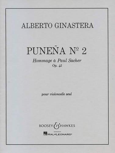 Punena n° 2 op. 45 - GINASTERA - Partition - laflutedepan.com