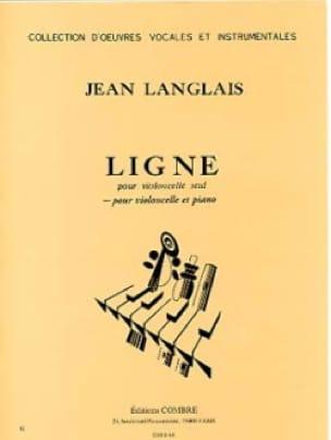 Ligne - Jean Langlais - Partition - Violoncelle - laflutedepan.com