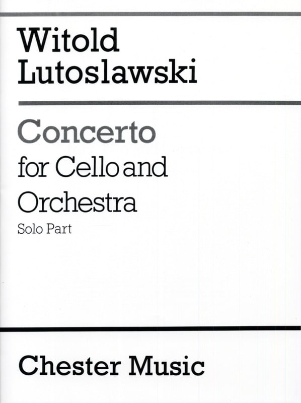 Witold Lutoslawski - Concerto for cello and orchestra - Solo - Partition - di-arezzo.co.uk