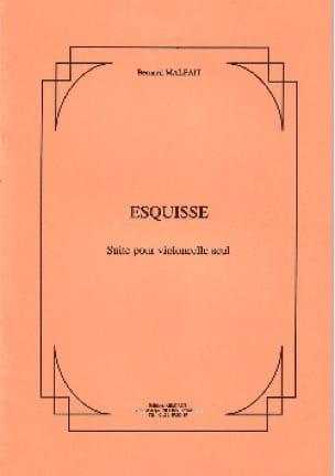 Esquisse - Bernard Malait - Partition - Violoncelle - laflutedepan.com