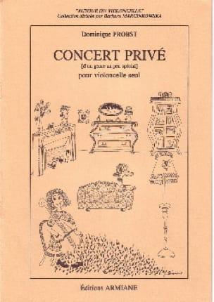 Concert privé - Dominique Probst - Partition - laflutedepan.com