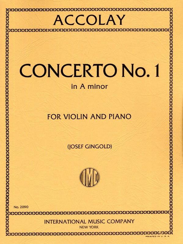 Jean-Baptiste ACCOLAY - Concertino n ° 1 A minor - Partition - di-arezzo.co.uk
