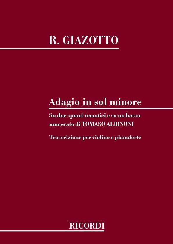 Albinoni Tomaso / Giazotto Remo - Adagio in sol minor - Violin - Partition - di-arezzo.com