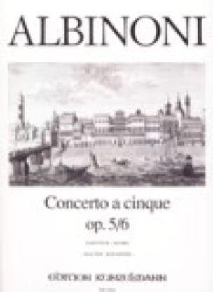 Concerto a cinque op. 5/6 - ALBINONI - Partition - laflutedepan.com