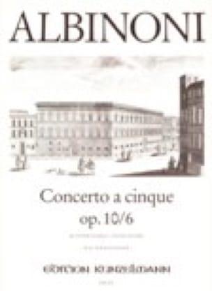 Concerto a cinque op. 10/6 - ALBINONI - Partition - laflutedepan.com