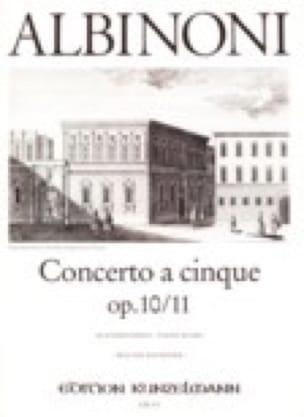 Concerto a cinque op. 10/11 - ALBINONI - Partition - laflutedepan.com
