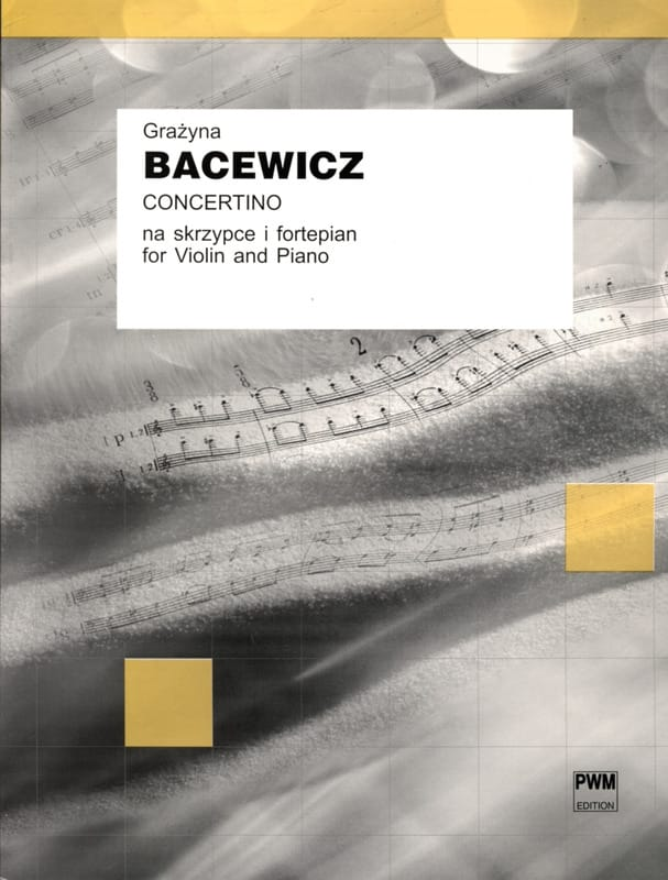 Grazyna Bacewicz - Concertino - Partition - di-arezzo.co.uk