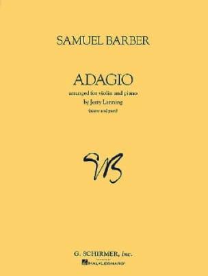Adagio op. 11 - Violin piano - BARBER - Partition - laflutedepan.com