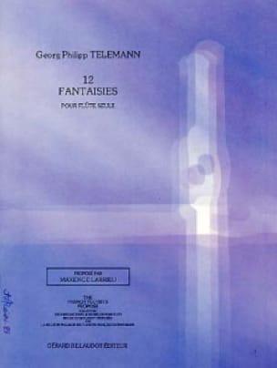 TELEMANN - 12 Fantaisies - Flûte solo - Partition - di-arezzo.fr