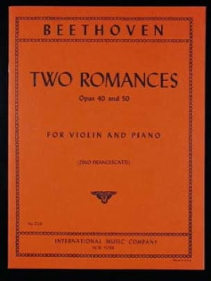 BEETHOVEN - 2 Romances op. 40 and op. 50 - Partition - di-arezzo.co.uk
