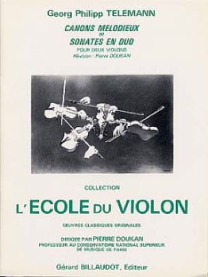 TELEMANN - Cánones melodiosos o sonatas duales - Partition - di-arezzo.es