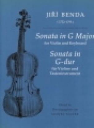 Sonata in G Major - Jiri Antonin Benda - Partition - laflutedepan.com