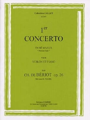 BÉRIOT - 1st Solo From Concerto No. 1 Op. 26 In D Major - Partition - di-arezzo.co.uk